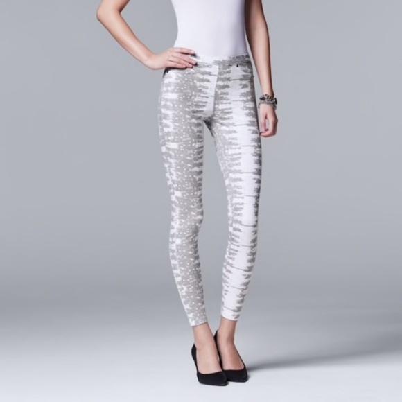 55afa1056493f Simply Vera Vera Wang Pants | Ring Lizard Denim Leggings | Poshmark